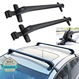 43'' Inch Universal Car Roof Rack Top Crossbars Cargo Luggage Carrier with Lock System Easy Installation