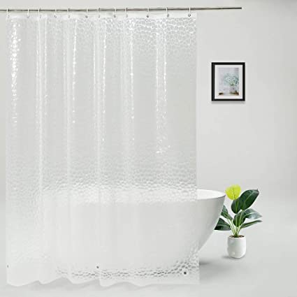 Amazon UFRIDAY Waterproof Shower Curtain Liner PEVA Semi