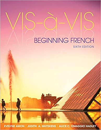 Vis-a-vis: beginning french book by evelyne amon | 10 available.