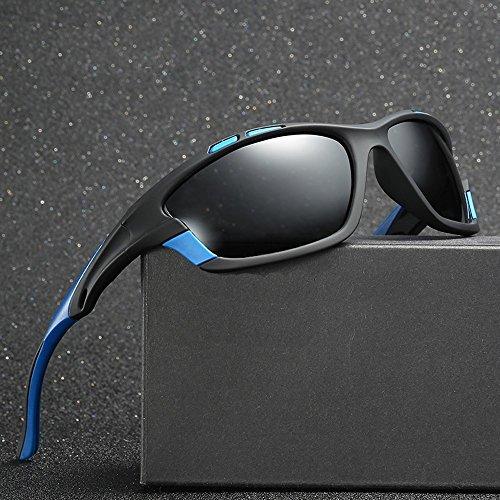 Con Para Negro Negro Sol El Azul Gafas blue Hombres Polarizadas TIANLIANG04 Con black Uv400 Polarizadas Blanco Espejo Cuadro with De Conducción Sol Rojo De Hombres De Gafas qx1vB6