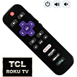 IKU Replacement Remote for TCL Roku TV with Power/Volume Control and UPDATED 4 Shortcuts (RC280 RC282 Standard IR replacement for TCL Roku TV) [NOT for ROKU STICK and PLAYER]
