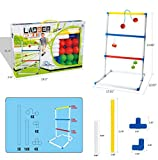 FixtureDisplays Ladder Toss Game Set with 6 Bolos Backyard Family Kid Games 16856-NPF