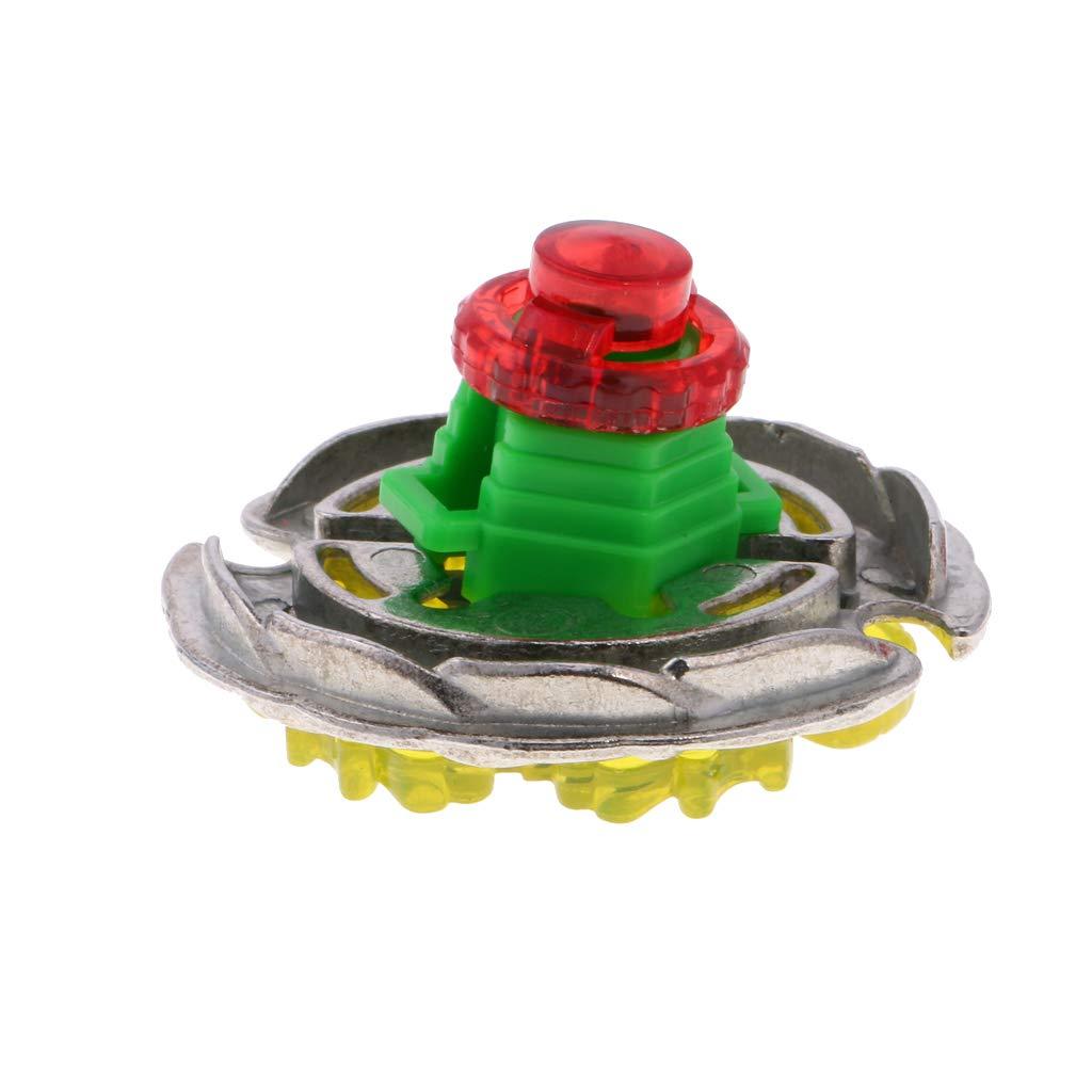 Jaune #1 MagiDeal Kits Toupies M/étal Fusion 4D Combat Ma/ître Gyro Top Cordes Lanceur Jouet Cadeau Enfant