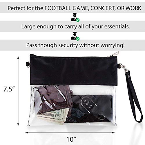 MONOBLANKS Clear Zip Pouch with Detachable Crossbody Adjustable Strap and Wristlet (Purple) by MONOBLANKS (Image #4)