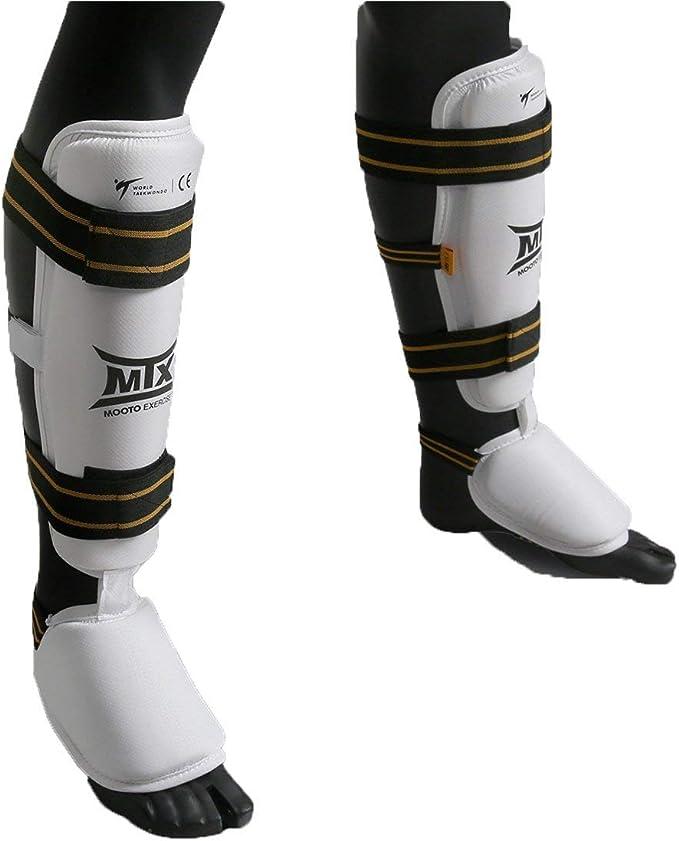 MOOTO Korea TAEKWONDO TKD Arm Forearm protector gear WTF Gym MMA PU White 1pair