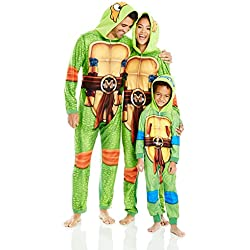 Nickelodeon Men's Teenage Mutant Ninja Turtles Family Cosplay Union Suit, Green, Adult S