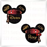 PERSONALIZED Disney Inspired Pirates Magnets. Custom Disney Cruise Magnet.