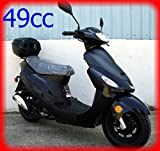 Tao ATM-50 is a 49cc Fully Automatic Gas Powered Street Legal Scooter with Matching Trunk - Sporty Black Color