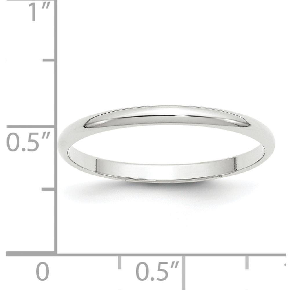 JewelrySuperMart Collection 10k Gold 2mm Half Round Plain Classic Wedding Band