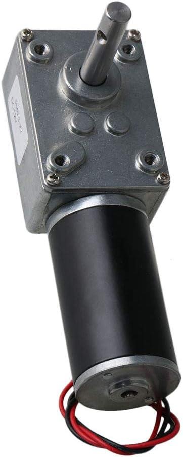 DC12V 25RPM 8mm Shaft Low Speed High Torque Turbine Worm Gear Motor 25KG.CM