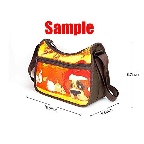 Twin Classic Fabric tigers Oxford A Hobo Shoulder Custom Handbag Design Sides qp7wfWx