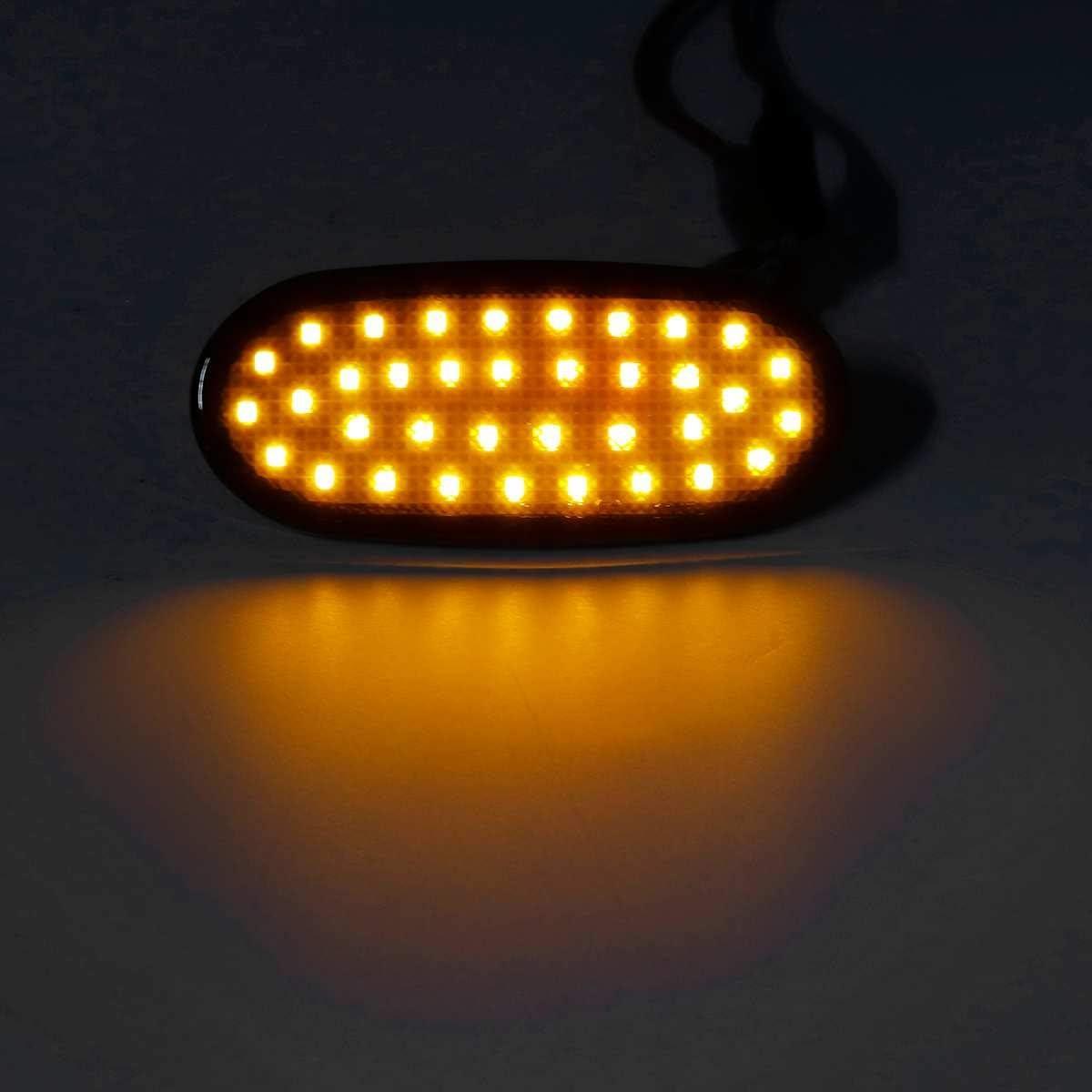 Noir Naliovker 6 Pi/èCes 36 LED R/éP/éTeur Lat/éRal de la Lampe Lat/éRale de Feux de Position 12V Clignotant Lampe de Panneau de Signalisation pour Crafter 2006 Sprinter W906