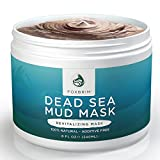 Aztec Clay Mask for Hair Pure Dead Sea Mud Mask - 100% Natural Clay Face Mask by Foxbrim - Additive Free - Restoring & Detoxifying Dead Sea Mud Mask for Acne, Tone and Lines - Imported from Israel - 240ml/8oz