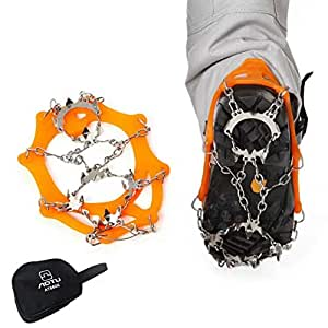 Amazon.com : Charlie & Keith's Snow Grip Spike Ice Shoes Boots Anti-Slip 18-Teeth Climbing
