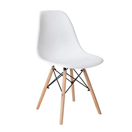 Incroyable Amazon.com   Wooden Leg Plastic Dining Chair Lounge Chairs Modern Designer  Kitchen/Bedroom/Feature/Restaurant/Apartment/Cafe/Bar.   Chairs