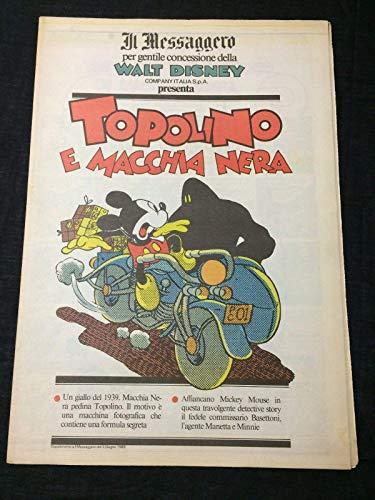 Mickey Mouse Aladdin Lamp Disney Comic Italian Topolino Il Messaggero Newspaper from Hollywood Memorabilia