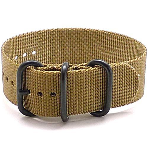 DaLuca Ballistic Nylon Military 1 Piece Watch Strap - Sand (PVD Buckle) : 22mm