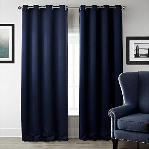 MEILIANJIA Modern Polyester Printing Thermal Insulated Shade Energy Saving Plain Coloured Curtains 52