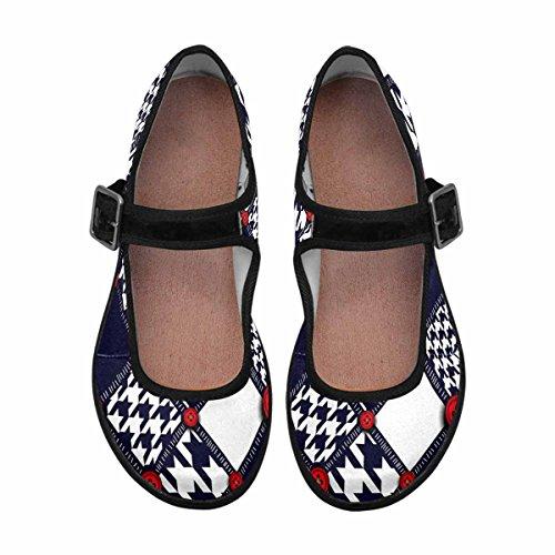 InterestPrint Womens Comfort Mary Jane Flats Casual Walking Shoes Multi 12 LEgKMCX