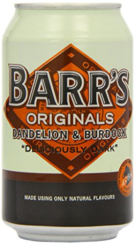 Barrs Originals Soft Drink, Dandelion & Burdock, 330 ml Cans (Pack of 24)