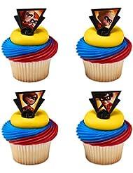 Decopac Incredibles 2 Dynamic Cupcake Rings Toppers