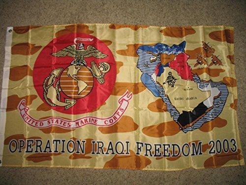 3X5 Usmc Marine Corps Operation Iraqi Freedom 2003 Service Flag 3'X5' Banner by Decorative Flag