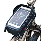 """Bike Frame Bag, MOOZO Rainproof Bicycle Cycling Front Top Tube Frame Pannier Pouch Mountain City Bike MTB Crossbar Storage Bags for iPhone X 8 7 6 6S Plus Samsung Huawei LG HTC Smartphones up to 6.0"""" For Sale"""