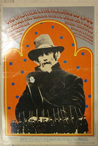 VINTAGE 1968 CONCERT POSTER - BIG BROTHER THE HOLDING COMPANY - COOL SHINY ART