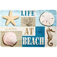 Emerald Life At The Beach Kitchen Mat One Size Blue multi