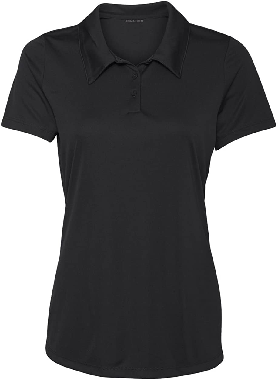 Women's Dry-Fit Golf Polo Shirts 3-Button Golf Polo's in 20 Colors XS-3XL Shirt: Clothing