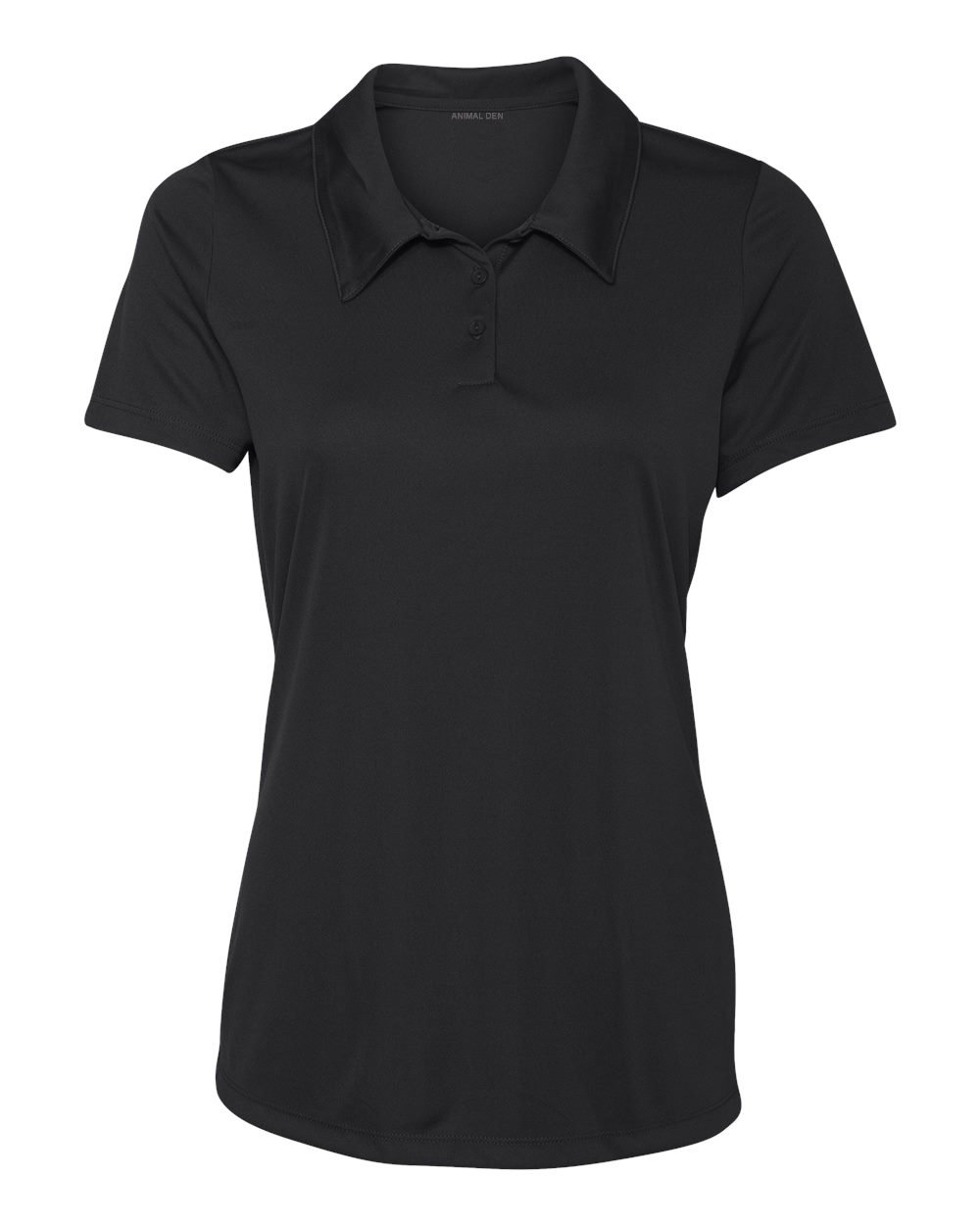 Women's Dry-Fit Golf Polo Shirts 3-Button Golf Polo's in 20 Colors XS-3XL Shirt Black-S by Animal Den