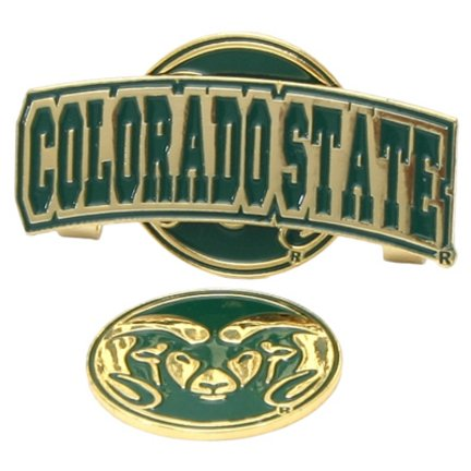 Colorado State Rams Slider Clip with Golf Ball Marker (Set of 3) by LinksWalker