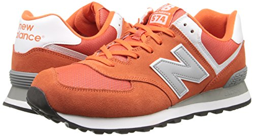 888546369719 - New Balance Men's ML574 Picnic Pack Collection Classic Running Shoe, Orange/Silver, 11.5 D US carousel main 5