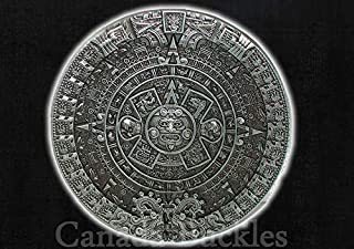 MAYAN MC ~ Motorcycle Club Mayan's Civilization Temple Circular Design Belt Buckle for Belts by Canada Buckles. Ships from Cornwall, Ontario, Canada.