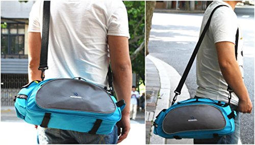 Best Fit For U Roswheel Bicycle Cycling Bike Saddle Rack Seat Cargo Bag Rear Pack Trunk Pannier Handbag Blue Outdoor Traveling New