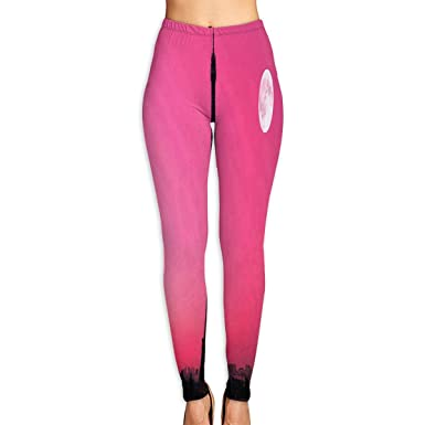16bacf83e517 Custom Yoga Pants Paris Pink Sunset Leggings Pants for Yoga Running Pilates  Gym for Women Girls at Amazon Women s Clothing store