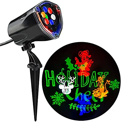 Gemmy Mickey and Friends Fantastic Flurry + Silhouette LED Projection Spotlight Indoor/Outdoor Decoration