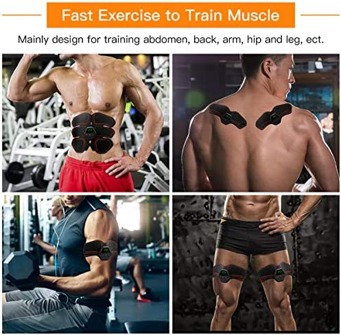 MEILYLA Muscle Toner Abdominal Toning Belt for Men Women ABS Trainer Portable Unisex Fitness 3
