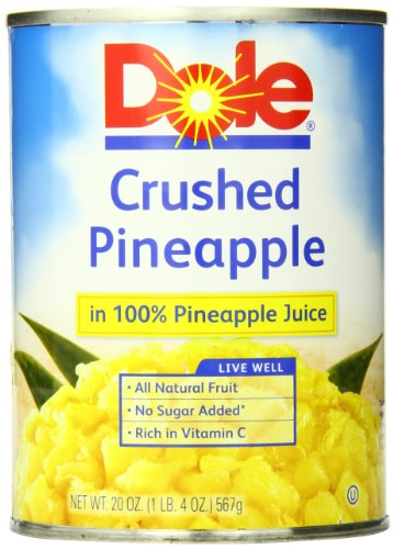 Dole Crushed Pineapple in Juice, 20 Ounce Cans