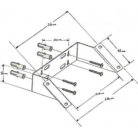 Solar Technology FKA10 soporte palo telesc/ópico y soporte de pared