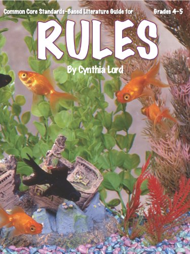 Rules Teacher Guide - complete unit of lessons for teaching the novel Rules by Cynthia Lord