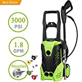 3000PSI Pressure 1.8 GPM 1800W High Pressure Washer Electric Pressure...
