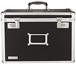 Vaultz Locking Personal File Tote for Legal Size Documents, Black (VZ01189)