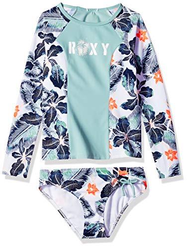 Roxy Big Girls' Long Sleeve Fashion Rashguard Set, Bright White Summer Spirit Southwest, 12/L