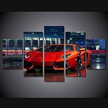 Amazon Com Lamborghini Black Car Print Canvas Decoration