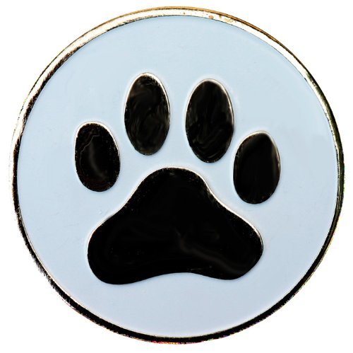 Dog Paw Golf Ball Marker with Matching Hat Clip
