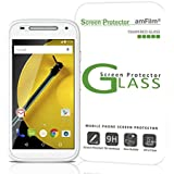 amFilm Moto E 2nd Gen Tempered Glass Screen Protector for Motorola Moto E 2nd Generation 2015 with Lifetime Replacement Warranty (1-Pack) [in Retail Packaging]