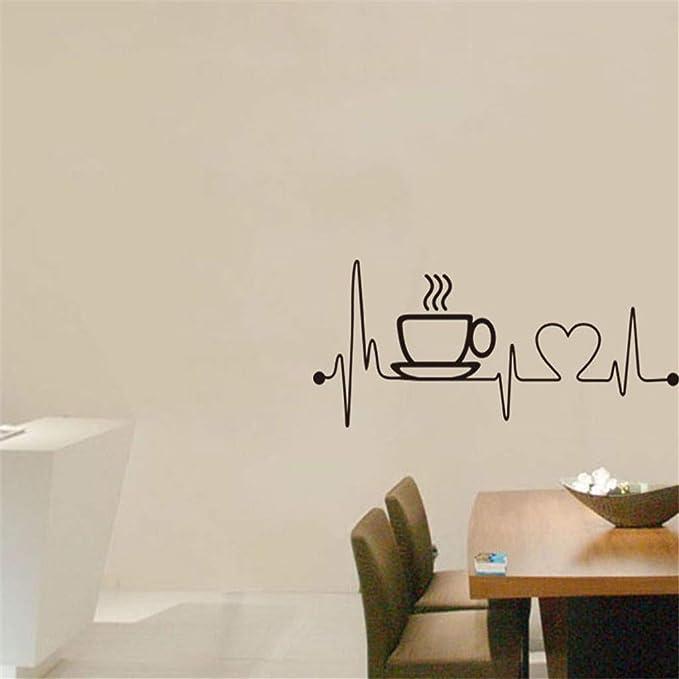 Anmain Tazza Caffè Sticker Da Muro Bar Adesivi Murali Cucina ...