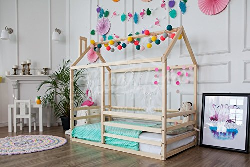 Montessori bed, children bed, frame bed, bed house, wood bed, kids teepee, baby bed house, nursery crib, children furniture, WITH slats