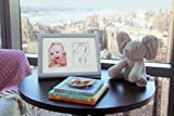 Premium Baby Hand and Footprint Frame Kit by 2 Little Bears | Solid Wood, Real Glass, Non-Toxic Clay | Fits 5 x 7 Photo | Newborn Girls, Boys, Pets | Keepsake Gift for Infant Nursery, Shower, Baptism